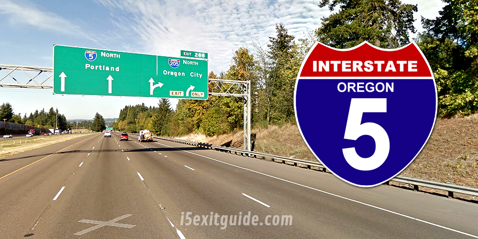 Detour for I-5 Exit 216 Ramp Construction in Oregon on Friday